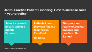 How to set up dental practice patient financing